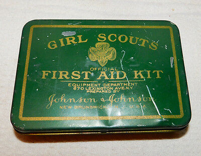 Girl Scout First Aid Kit 1933 Original, with Contents,  Johnson & Johnson, Book