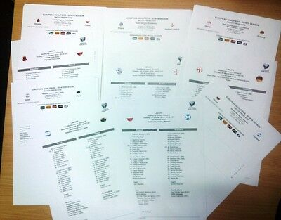 EURO-2016 all matches press kits linesups all matches GROUP A - I & PLAY OFF