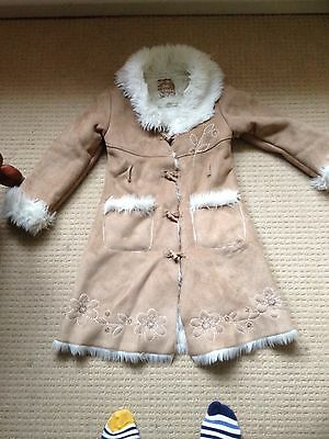 Stunning Matalan Winter Girls Fur Lined Coat Age 8-9 Years X Worn Cond