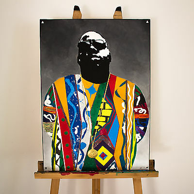 BIGGIE + THE NOTORIOUS BIG + BIGGIE SMALLS + Handgemaltes Bild + 70x50cm + NEU