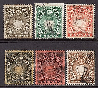 British East Africa 1890-95  ½a to 4a SG4c-9 Used (High Cat)