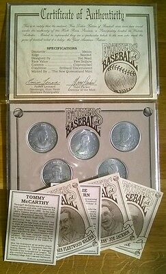Fathers of Baseball - 1993  $5 Coins, Cards, inc Certificate of Authenticity
