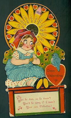 1930's German Made Mechanical Valentine's Day Card