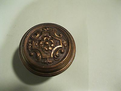 Old art nouveau swirl and floral design  brass door knob 1920s to 1930s