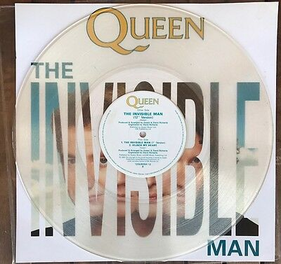 Queen - The Invisible man 12'' clear vinyl UK