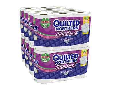 Quilted Northern Ultra Plush Bath Tissue 48 Double Rolls Toilet Paper Bathroom