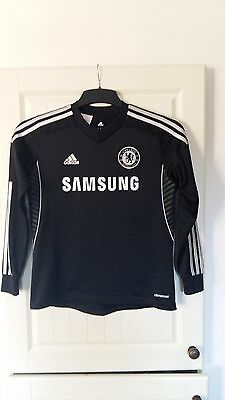 Boys Authentic Chelsea Football Top By Adidas Age 11