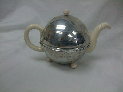 Vintage 50s Ever Hot Insulated Chrome Jacketed Tea Pot