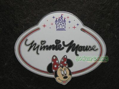 Disney Pin 2010 HKDL Mystery Tin Pin Name Tag Collection - Minnie