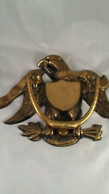 Solid Brass Eagle (U S Seal)  Door Knocker made in Japan