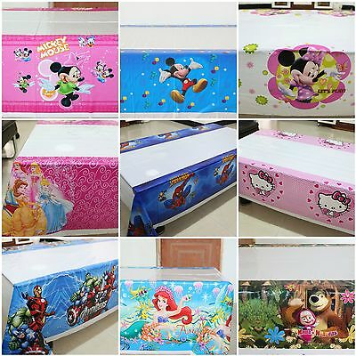 Themed Kids Birthday Disney Cartoons Party Table Cover Tablecloth Tableware