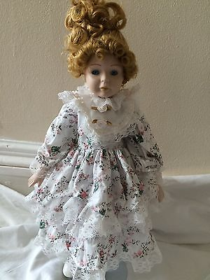 Porcelain Doll In Victorian Costume