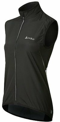 Women's - Odlo - Flame Cycling Vest Top - Black/White - Size Large