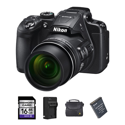 Nikon Coolpix B700 Digital Camera + 2 Batteries, 16GB & More