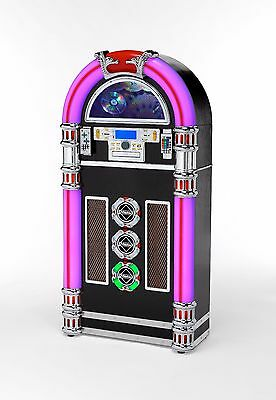 STEEPLETONE ENCODE  ROCK ZERO 50 2  Retro Style JUKEBOX   Mp3/USB/CD/SD