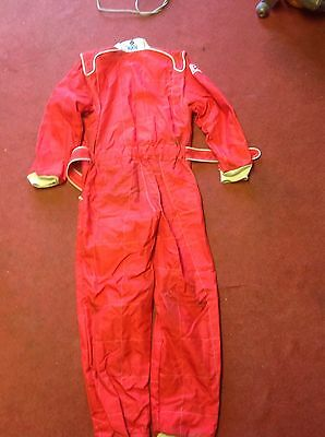 Red Kart Cadet Sparco Race Suit size 150