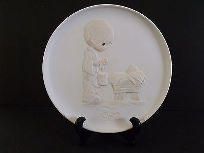 """1982 Precious Moments Christmas Series I'll Play My Drum For Him 8 1/2"""" Plate PE"""