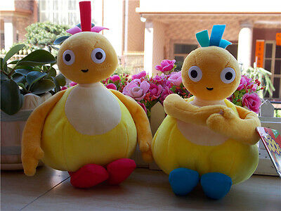 "New Twirlywoos 8"" Plush Soft Toy Chick Yellow Chickedy Set of 2"