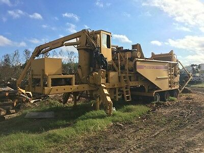 Rexworks Maxigrind 425 W/ Loading Arm Horizontal Grinder Wood Waste Recycling