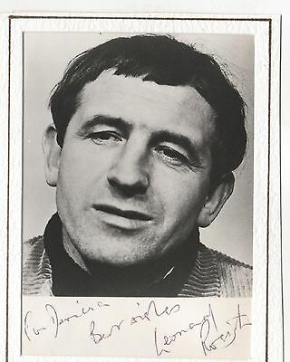 Hand Signed Autographed Postcard Size Photograph Of Leonard Rossiter