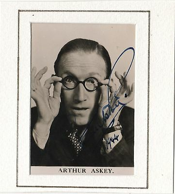 Hand Signed Autographed Small Photograph Of Arthur Askey Dated  1944