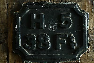 Railway Cast Iron Sign Collectable Vintage