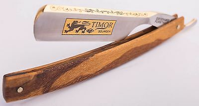Timor Solingen Rasiermesser Gold 6/8 Carbonstahl straight razor made in Germany