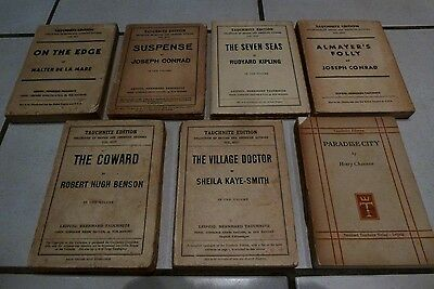 Vintage Collection Of Seven Tauchnitz Edition Books