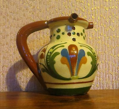 Antique Aller Vale Torquay Pottery Scandy Design Puzzle Jug (12 Cms) Xmas Gift