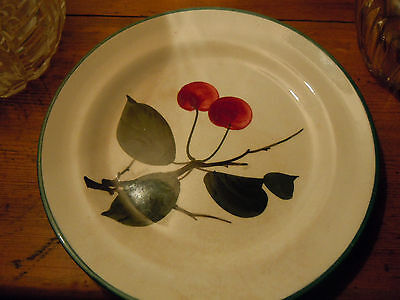 "Delightful Wemyss Pottery 6 1/2 "" Side Plate , Early 20Th Century Cherries"