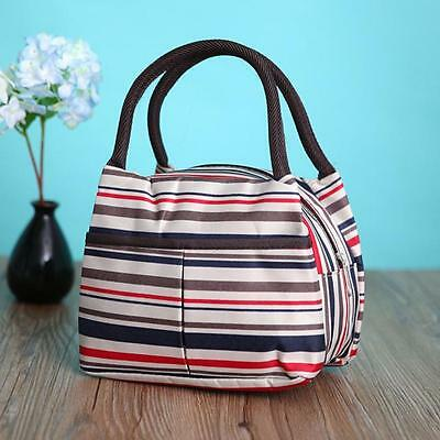 Portable Thermal Insulated Lunch Box Tote Cool Lunch Bento Bag Picnic Container
