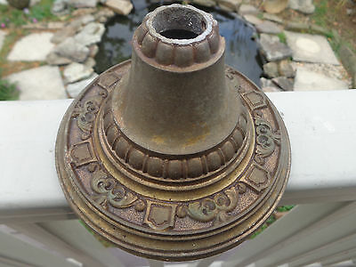 "Antique Art  Deco Brass 7/8"" CANOPY cover for Chandelier Hanging Light Fixture"
