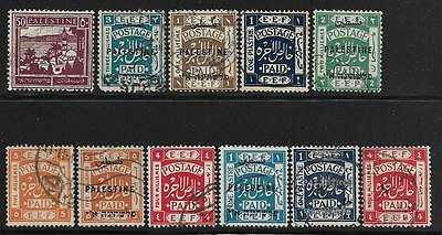 Palestine small lot of used stamps Overprinted