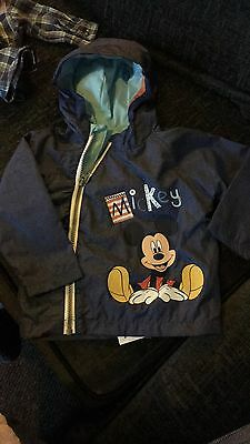 Micky Mouse Disney Waterproof Coat 9-12 Months