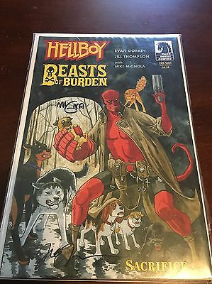 Hellboy / Beasts Of Burden #1 Signed By Mignola & Thompson - Free Shipping - NM