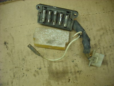 1981 Kawasaki KZ 1000 K main wiring harness fusebox cover