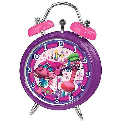 Trolls Mini Twinbell Alarm Clock Childrens Bedroom New Official Free P+P