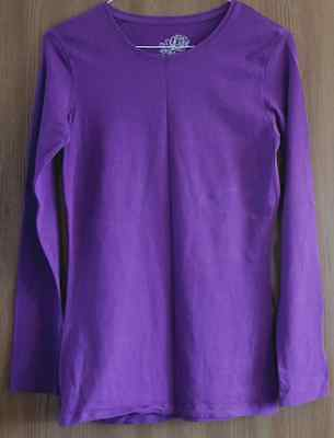 Ladies Purple Long Sleeved T-Shirt by Atmosphere - Size 10