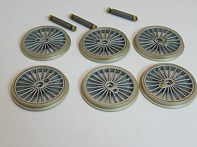 Romford Driving Wheels Nickel Silver Tyres 26mm Set of 6 with Axles