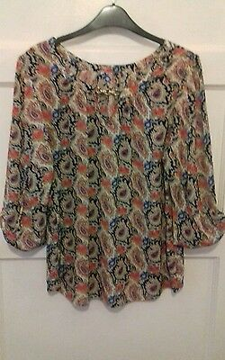 Ladies multi coloured blouse size 16 from Dorothy perkins