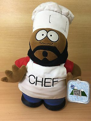 """South Park Chef 14"""" Soft Plush toy -  Vintage 1998 Tagged"""