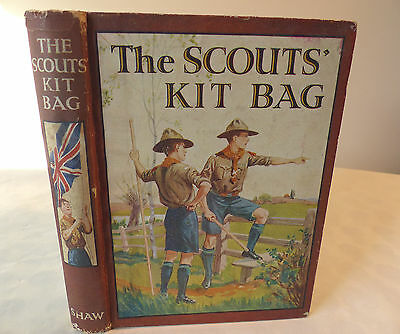 The Scouts Kit Bag A B White Ills Antique Retro Book Webster Owsley Boys