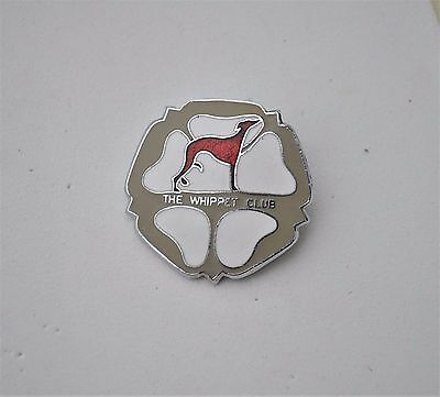The Whippet club enamel pin Badge Whippet Greyhound Dog racing maybe