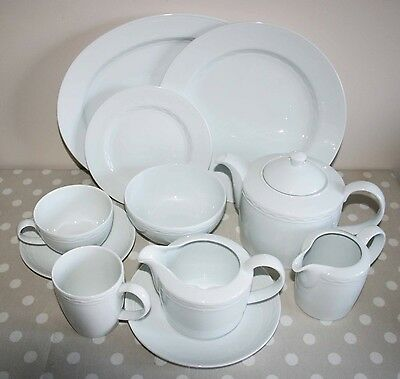 M&S MARKS & SPENCER 'PIAZZA' WHITE CHINA - 02148 - 68 Piece Set
