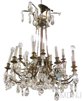 VMD432-French Style Bronze & Crystal Chandelier
