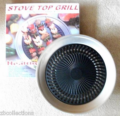 Stove Top Smokeless Grill Indoor BBQ black - High Quality Stainless Steel