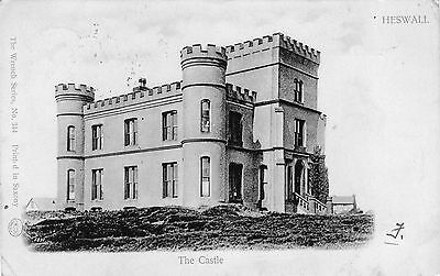 Vintage Postcard Heswall Castle Cheshire Wrench Vignette
