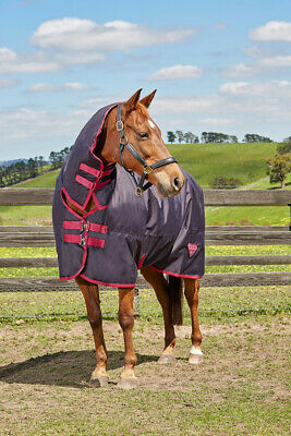 Saxon 600D Combo Neck Medium WATERPROOF Turnout Rug ALL SIZES & COLOURS