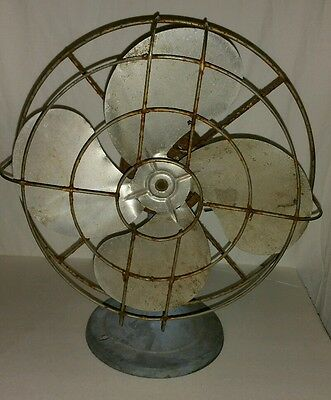 Vintage Steampunk Metal Fan! Very cool decoration piece! Non working