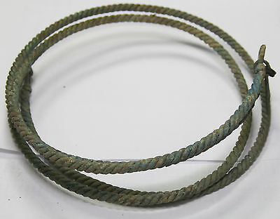ancient Viking Twisted bronze  NECK TORC   double NECK TORC 300 gr !